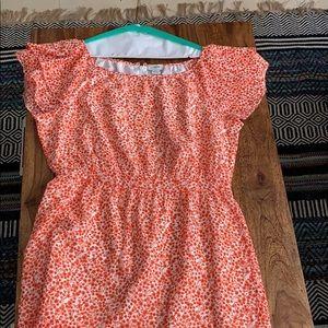J crew floral print ruffle dress